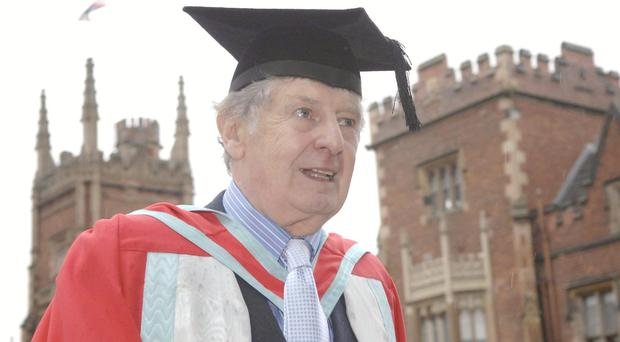 Actor Jimmy Ellis receives an honorary degree at Queen`s University in Belfast, for services to the performing arts. PRESS ASSOCIATION Photo. Issue date: Tuesday July 1, 2008. Photo credit should read: Stephen Wilson/PA Wire