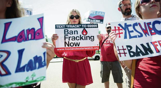 Celebrity clout: Actress Daryl Hannah protests