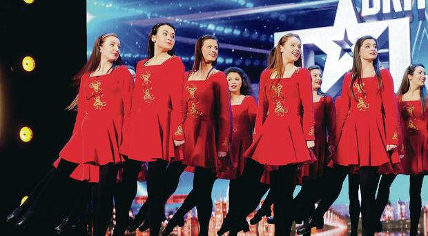 The Innova Irish Dance Company on the ITV television programme Britain's Got Talent to be shown this Saturday.