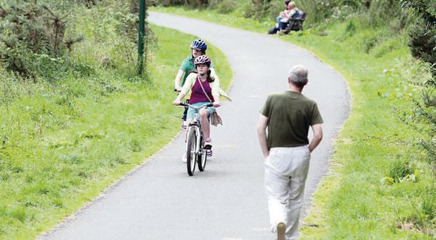 Cyclists on the Lagan Towpath