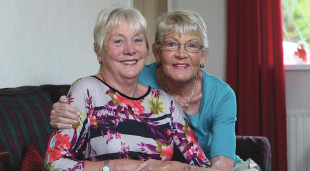 Gift of a lifetime: Joan McQuillan (left) gave a kidney to her sister Jackie Smiley