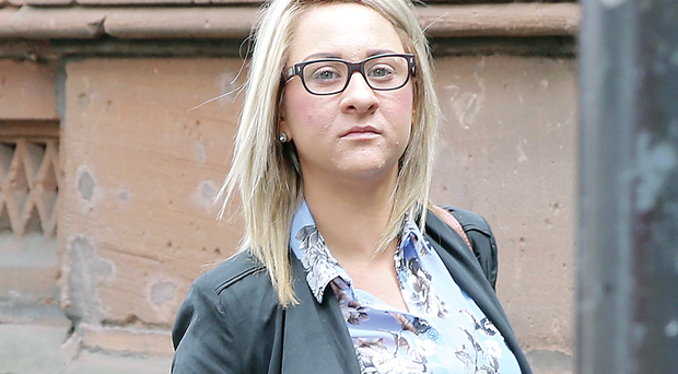 Tracy Hook leaving the Coroners Court in Belfast after giving evidence yesterday