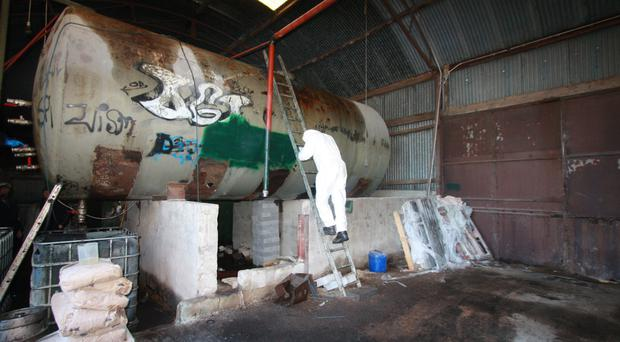 The fuel laundering plant uncovered in south Armagh