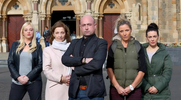 The Holy Holy Bus, director Tony Devlin with cast members Roisin Gallagher, Claire Connor, Stella McCusker and Caroline Curran