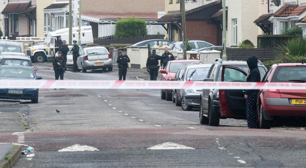 The scene in Derry's Creggan Heights where police came under attack