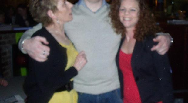 Missing man Steven McCloskey with his mother Lorraine and sister Lisa