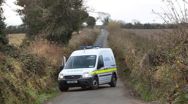 The scene at Carrowreagh on the outskirts of Bridgend, Co Donegal, where the body of a man, believed to be Steven McCloskey, was found