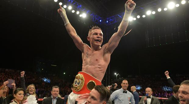 Carl Frampton after winning his IBF world title in September
