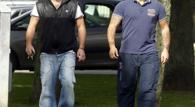 Alleged targets: Andre Shoukri (right) and John Boreland