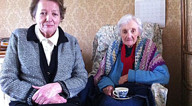 Ethna and Kathleen Sproule from Clady whose home was targeted by thieves