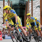The Giro d'Italia this year started with a team time trial stage beginning at the Titanic building