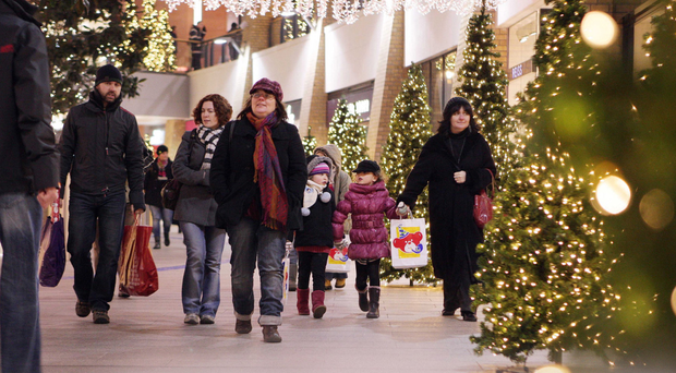 Shoppers at Victoria Square in Belfast