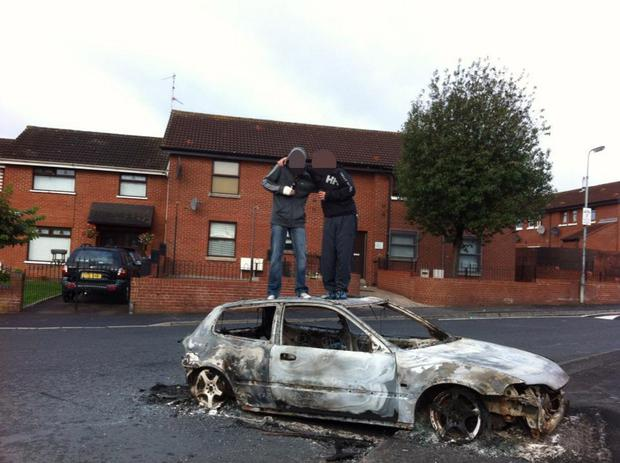 Pictures posted on Facebook by members of the Divis Hoods