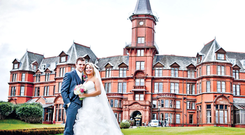 Jamie Mulgrew and his high school sweetheart Claire got married at the Slieve Donard Hotel