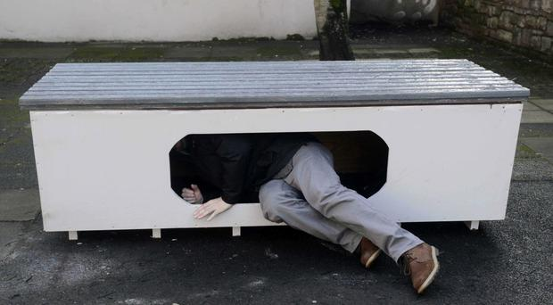 The capsule designed for people sleeping rough on the streets of Belfast