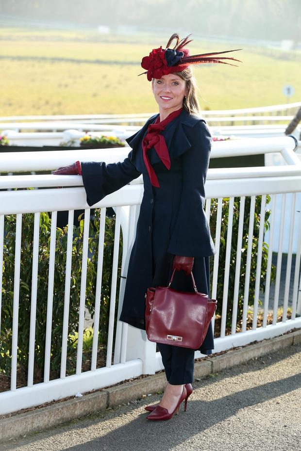 Elaine Dickson, winner of the Best Dressed competition at Downpatrick Racecourse yesterday