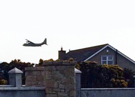 The huge aircraft flying low over homes in Newry on Tuesday