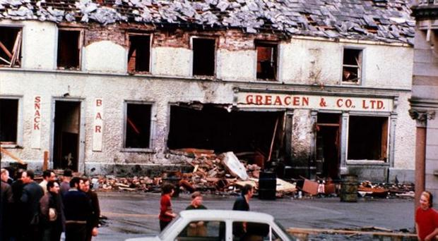 The devastation caused by the UVF bombing of Monaghan town