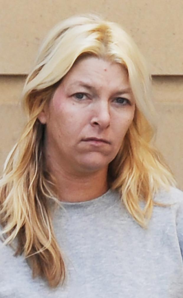 Accused: Julie Wilson at court yesterday