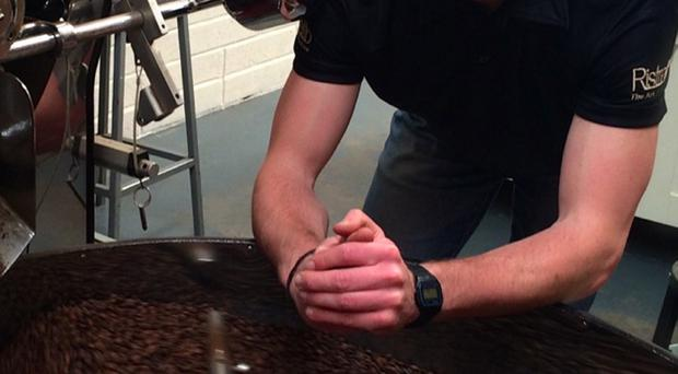Jonny Scott, coffee roaster at Ristretto in Banbridge