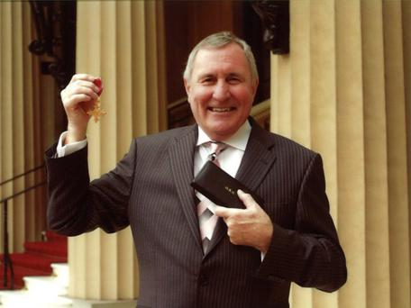 Honoured: Ian with his OBE