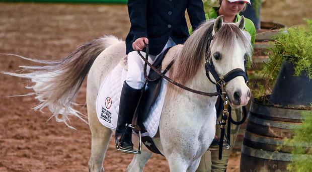 Fifteen-year-old equestrian competitor Dearbhail Savage