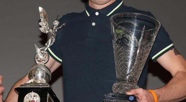 Andy Lawson with some of the trophies he has won