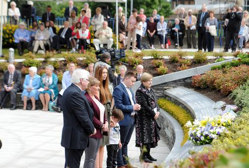 Poignant scenes at the 17th anniversary memorial service yesterday for those who died in the Omagh bomb