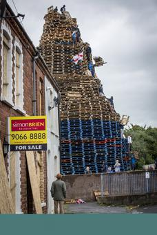 The bonfire at Chobham Street