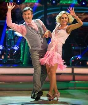 Daniel and Kristina go through their routine on Strictly