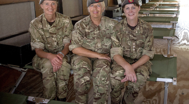 From left: Major Kate McLaughlin, Major Sharon Quigg and Captain Kate Gilmore