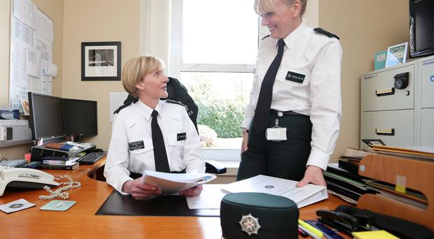 Superintendent Paula Hilman (right) and Chief Superintendent Barbara Gray at PSNI headquarters