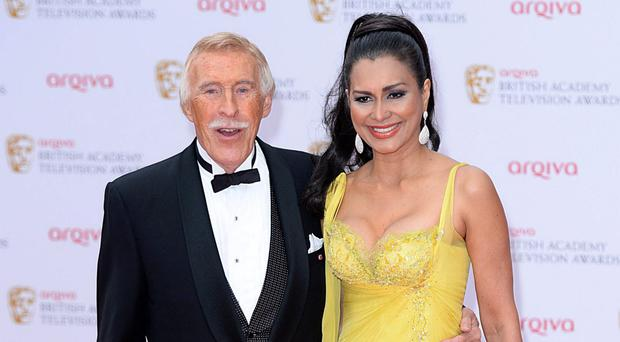 Bruce Forsyth with current wife Wilnelia