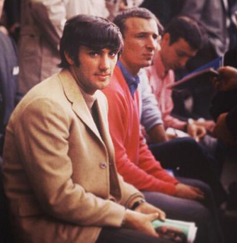 Close friends George Best and Mike Summerbee at 1966 World Cup Final