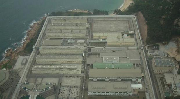 An aerial view of the notorious Stanley Prison in Hong Kong
