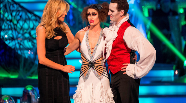 Kirsty Gallacher (centre) was axed by the ghoulish judges