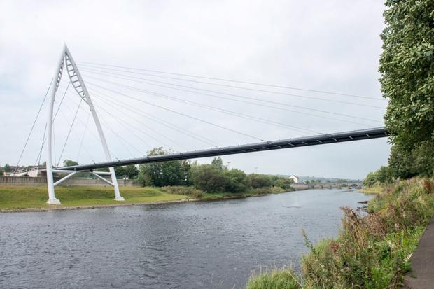 The new footbridge in Strabane