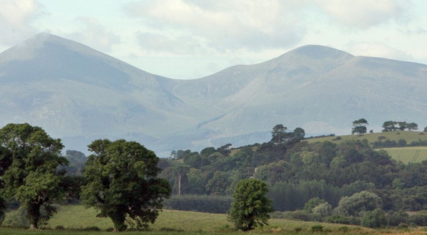 The Mourne mountains in Co Down