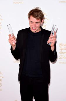 JW Anderson at the British Fashion Awards at the London Coliseum last night