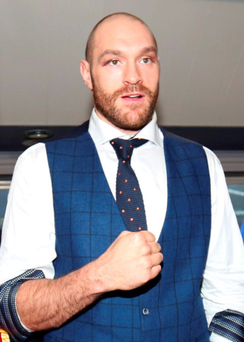 Tyson Fury at his homecoming in Bolton