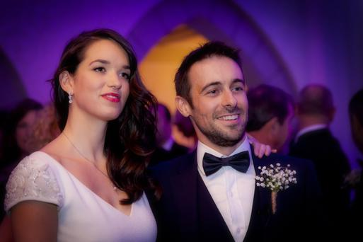 Eugene Laverty and wife Pippa on their wedding day