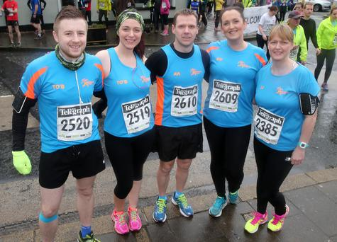Rathfriland Running Club members who took part in the fifth Born2Run Belfast Telegraph Run Forest Run at Kilbroney Park, Rostrevor