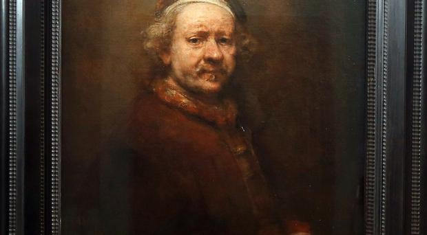 Rembrandt's Self Portrait At The Age of 63 at the Ulster Museum