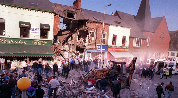 The aftermath of the Shankill bomb