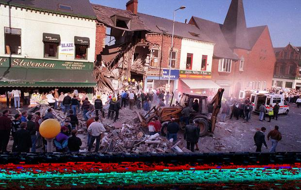 The scene of the Shankill bombing in 1993