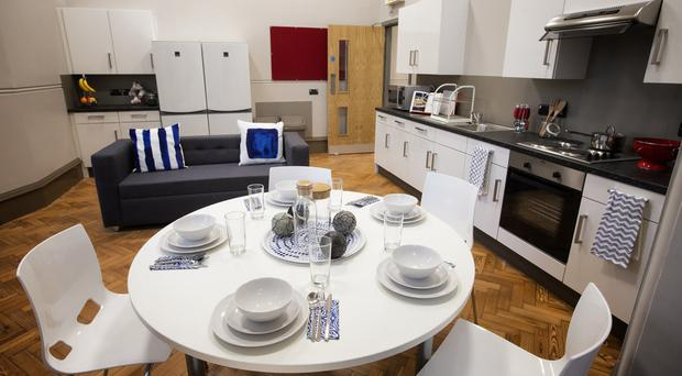 A kitchen from the new student accommodation