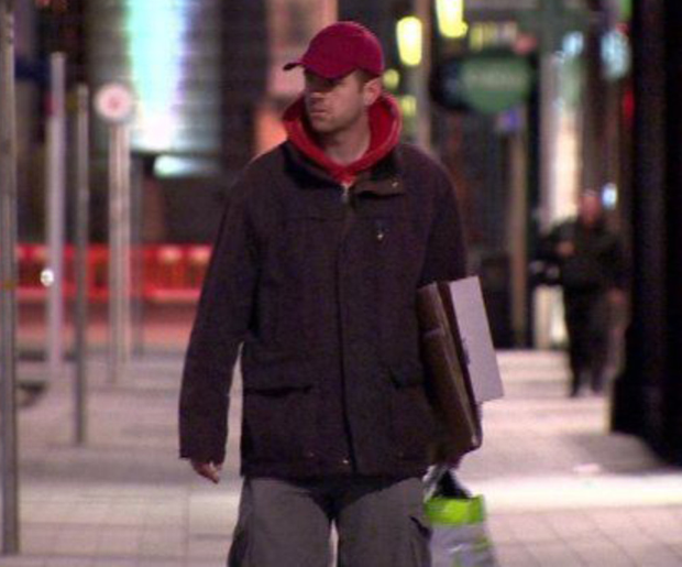 Andy West undercover on the streets of Belfast for the BBC