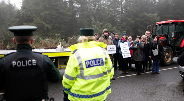 Protesters at Woodburn Forest