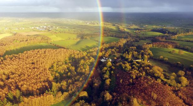 The rainbow over Lissan House, Cookstown