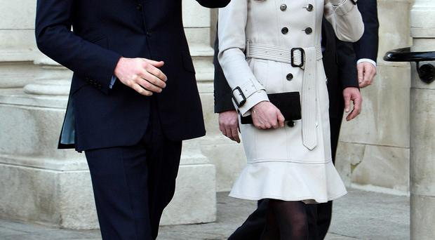 Prince William and Kate Middleton outside Belfast City Hall on their visit in 2011
